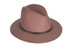 Man's brown hat . Man's brown hat on a white background Royalty Free Stock Photos