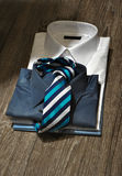 Man's business shirts with tie Royalty Free Stock Photo