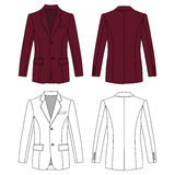 Man`s buttoned jacket Stock Images