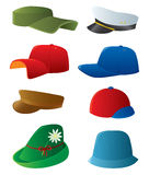 Man's cap set. Stock Image