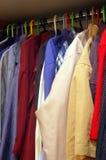 Man's closet Stock Photography