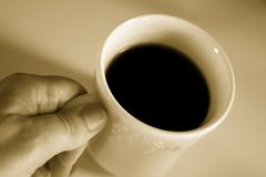 A Man's Coffee Stock Images