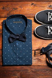 Man's collection of clothes in casual style Royalty Free Stock Image