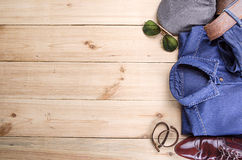 Man's collection in hipster style Stock Photos