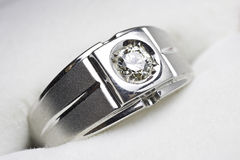 MAN's diamond ring Royalty Free Stock Images