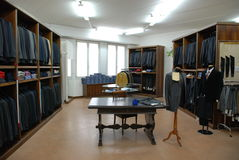 Man's dress store - tailoring Stock Images