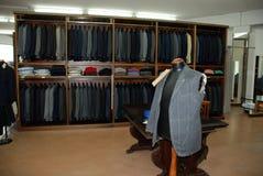 Man's dress store - tailoring Stock Image