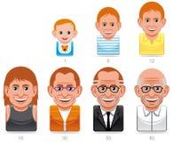 Man´s envelhece ícones Imagem de Stock