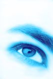Man's eye blue color Royalty Free Stock Photos