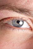 Man's eye macro Royalty Free Stock Images
