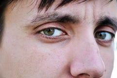 Man's eyes. Man eyes close-up portrait Royalty Free Stock Photography