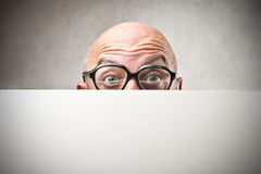 Man's eyes with glasses Royalty Free Stock Photo