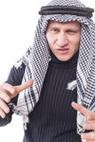 Man's face covered with Arab scarf Royalty Free Stock Photo