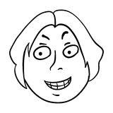 Man's face, vector illustration Royalty Free Stock Photo