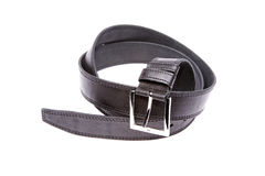 Man's fashion belt isolated on a white Royalty Free Stock Photo