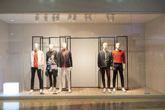 Boutique store fashion shop window front led light Royalty Free Stock Photography
