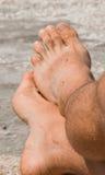 Man´s Feet stock photos