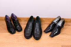 Man's and female shoes Royalty Free Stock Photography