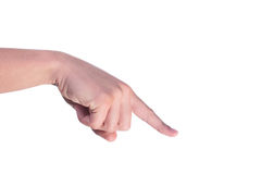 Man's finger Royalty Free Stock Photo
