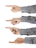 Man's finger pointing Stock Photo