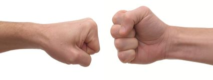 Man's fist Royalty Free Stock Photography