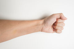 Man's fist isolated Stock Photography