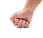 Man's fist. Over white background Stock Image