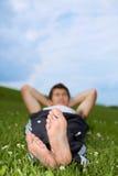 Man's foot Royalty Free Stock Photo