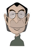 A man's in glasses portrait caricature Royalty Free Stock Photography