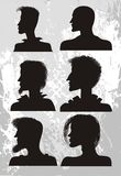 Man`s hair style. A vector with man`s hair style Stock Images