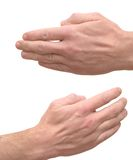 Man's hand stock image