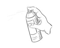 Man's hand with aerosol can. Vector image Royalty Free Stock Photos