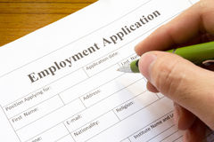 Employment application Royalty Free Stock Images