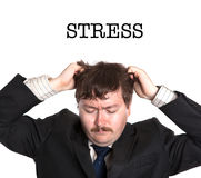 businessman in stress Stock Image