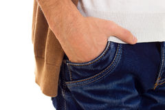 Free Man`s Hand In The Pocket Stock Photos - 90127273