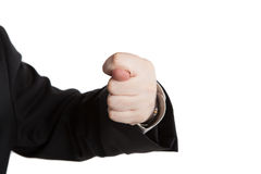 Man's hand indicates Royalty Free Stock Photo