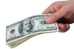 Man's hand keeps money Royalty Free Stock Photography
