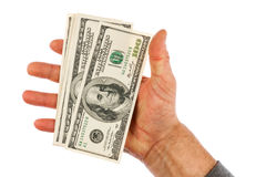 Man's hand keeps money, Royalty Free Stock Image