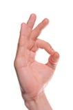 Man's hand make OK Stock Photos