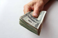 Man's hand with money Royalty Free Stock Images