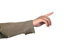 Man's hand pointing Royalty Free Stock Photos