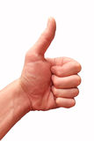 The man`s hand showing gesture Royalty Free Stock Photo