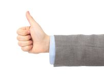 The man's hand shows Stock Photography