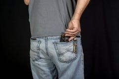 Man`s hand taking wallet Stock Image