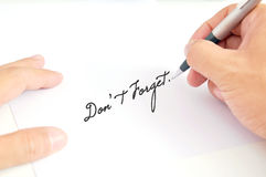 Man's hand writing Stock Images