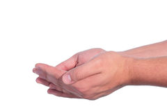 Man's hands Stock Photography