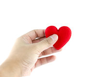 Man's hands with heart Stock Images