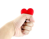 Man's hands with heart Royalty Free Stock Image