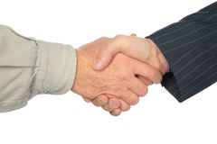 Man`s handshake Royalty Free Stock Image