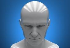 Man's head close-up Stock Photos